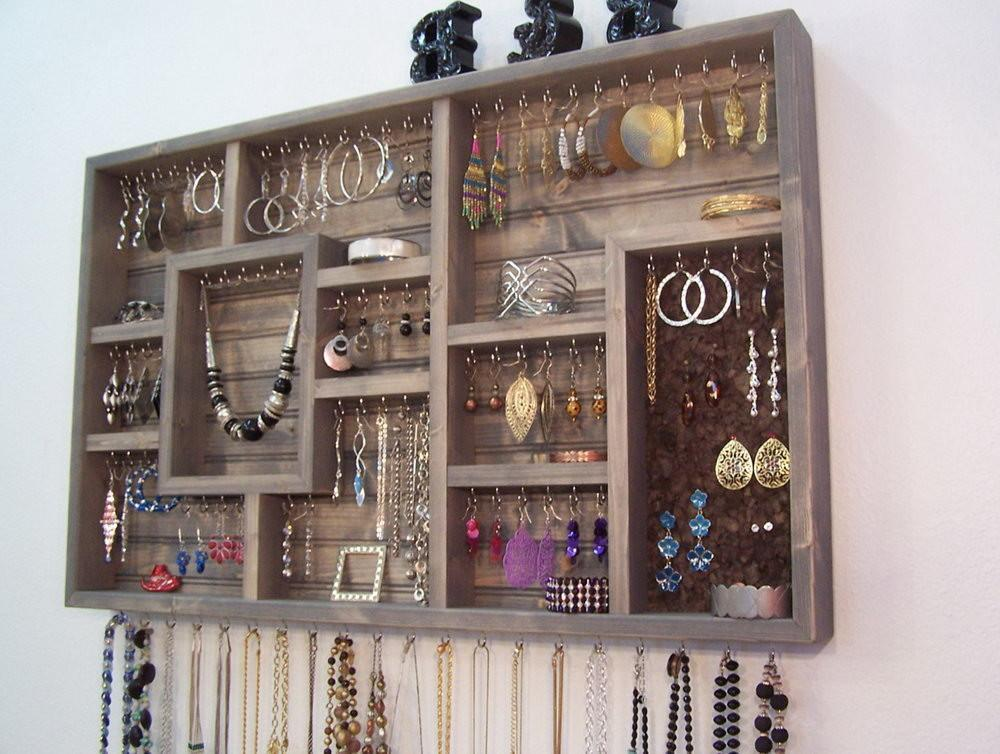 Wall Mounted Jewelry Organizer Diy Home Design Ideas