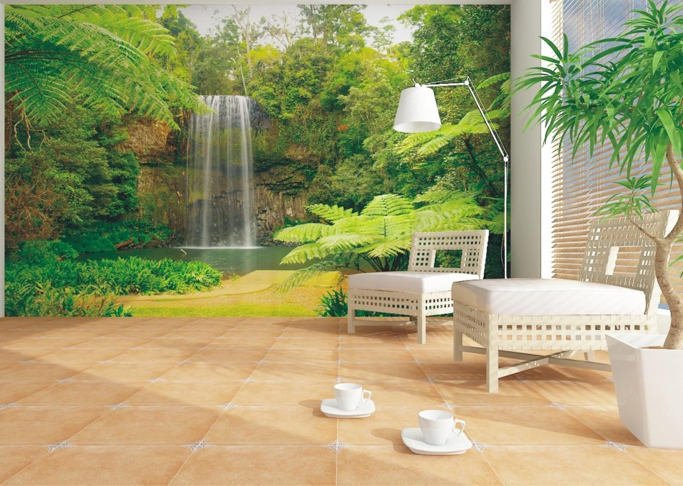 Wall Mural Nature Jungle Downfall Plant