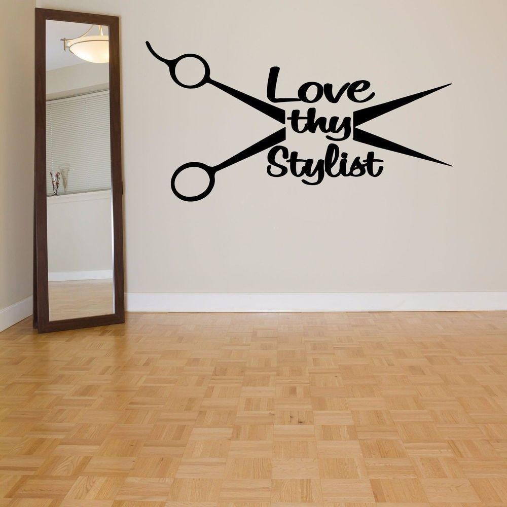 Wall Room Decor Art Vinyl Decal Sticker Mural Hair Beauty