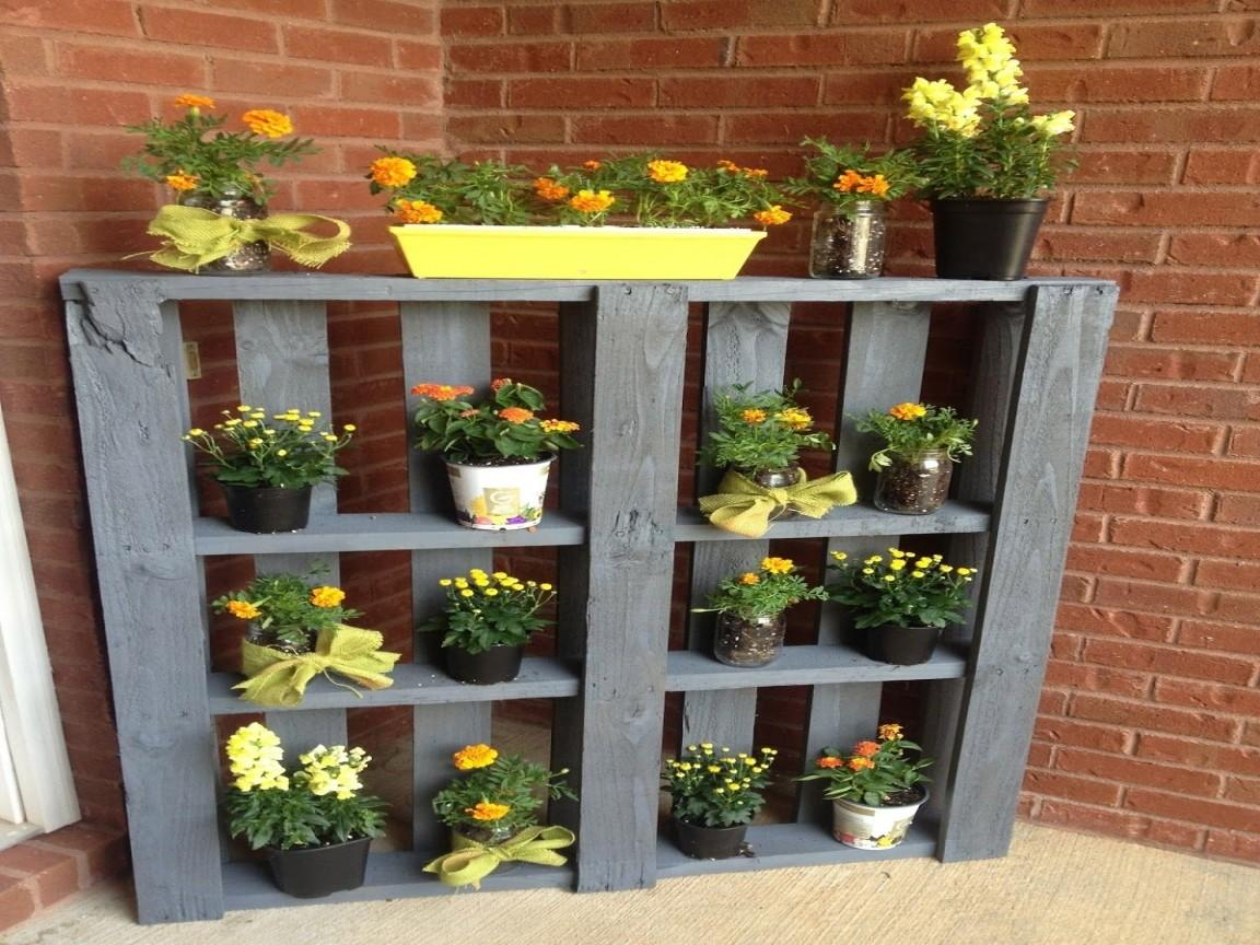 Wall Shelf Bookcase Pallet Plant Stand Ideas Three Tier