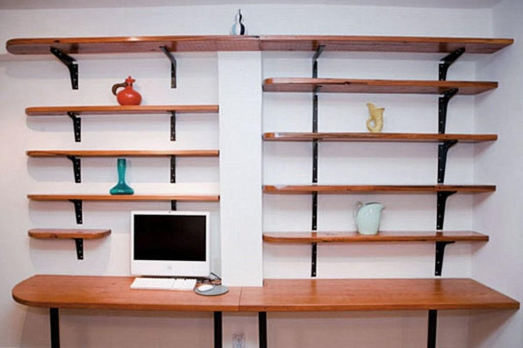 Wall Shelves Office Mounted
