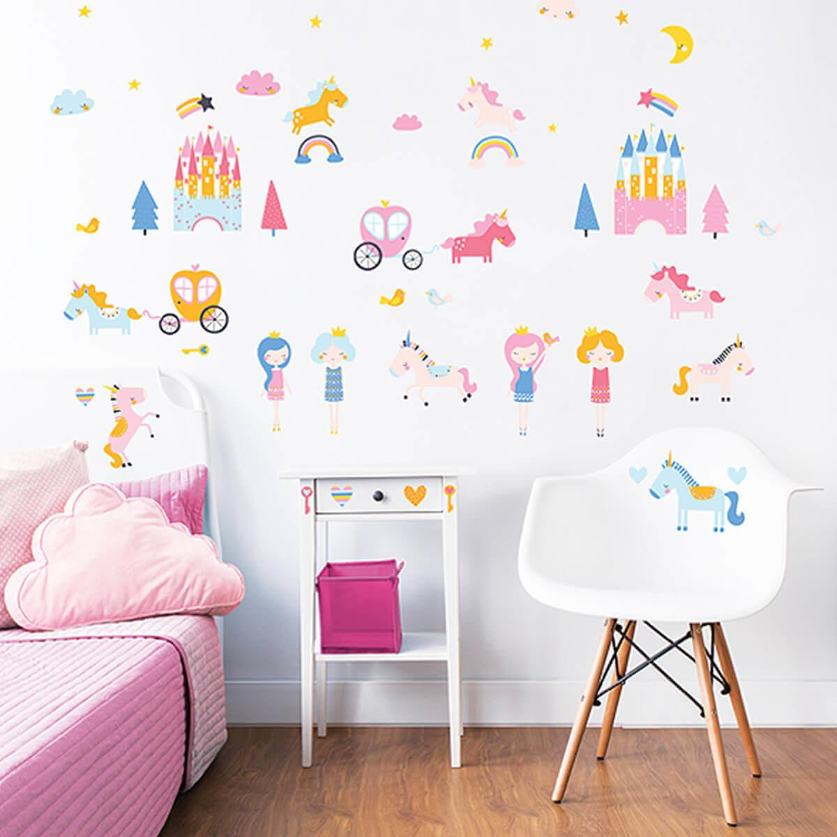 Walltastic Unicorn Kingdom Room Stickers Wall