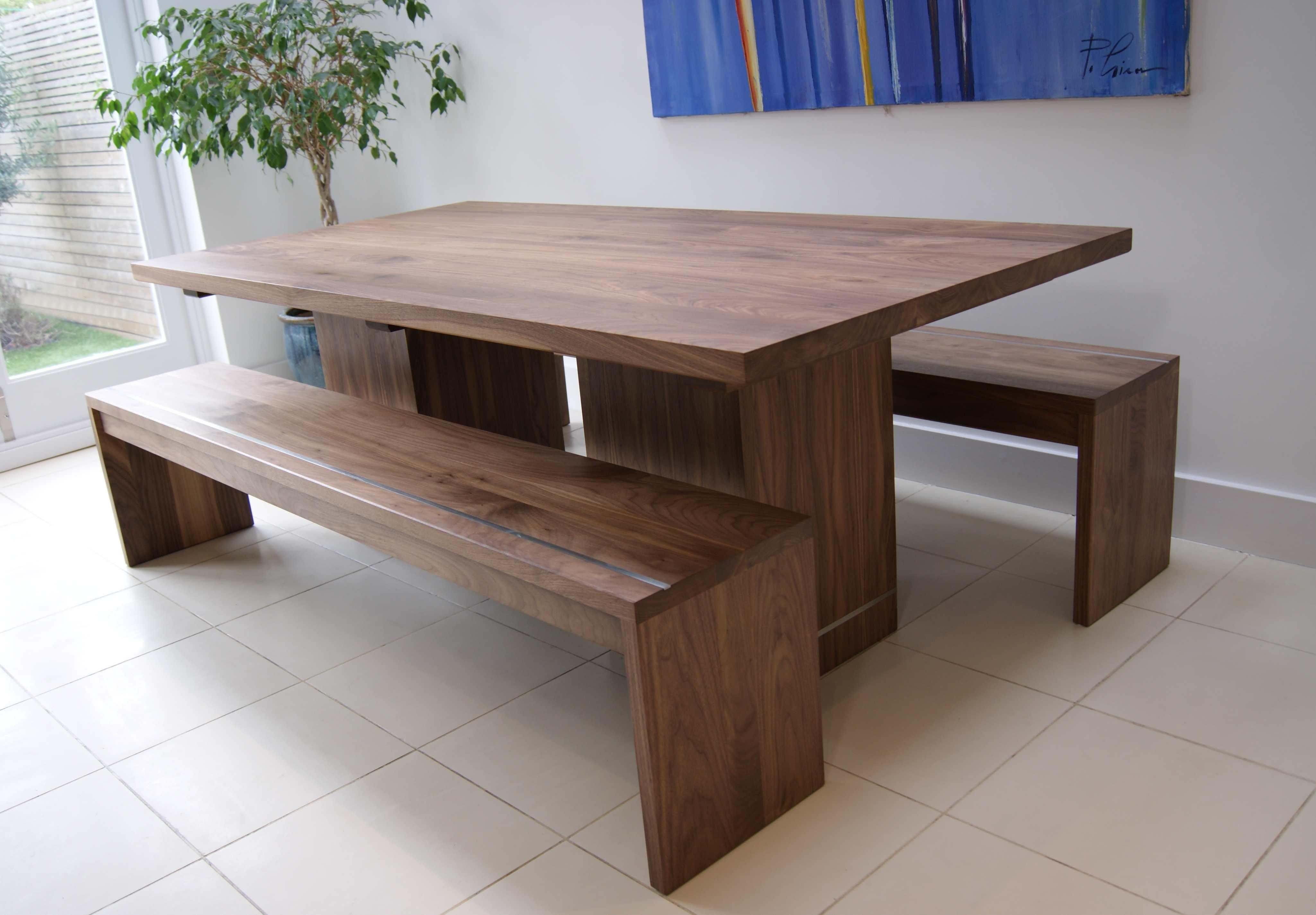 Walnut Dining Table Benches Mijmoj