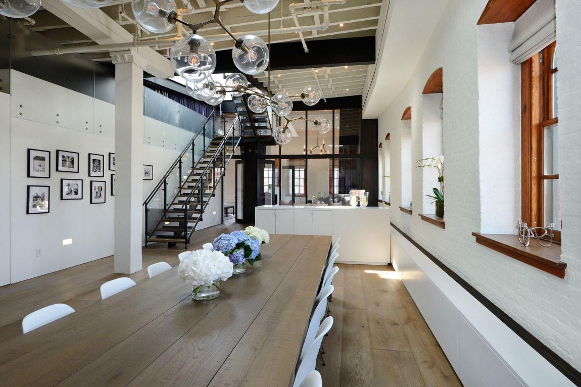 Warehouse Penthouse Loft Blends Modern New York Old