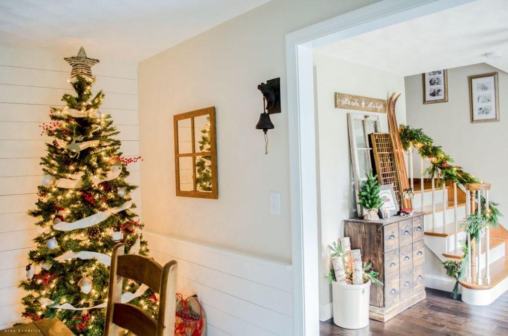 Warm Cozy Rustic Farmhouse Christmas Home Tour 2015