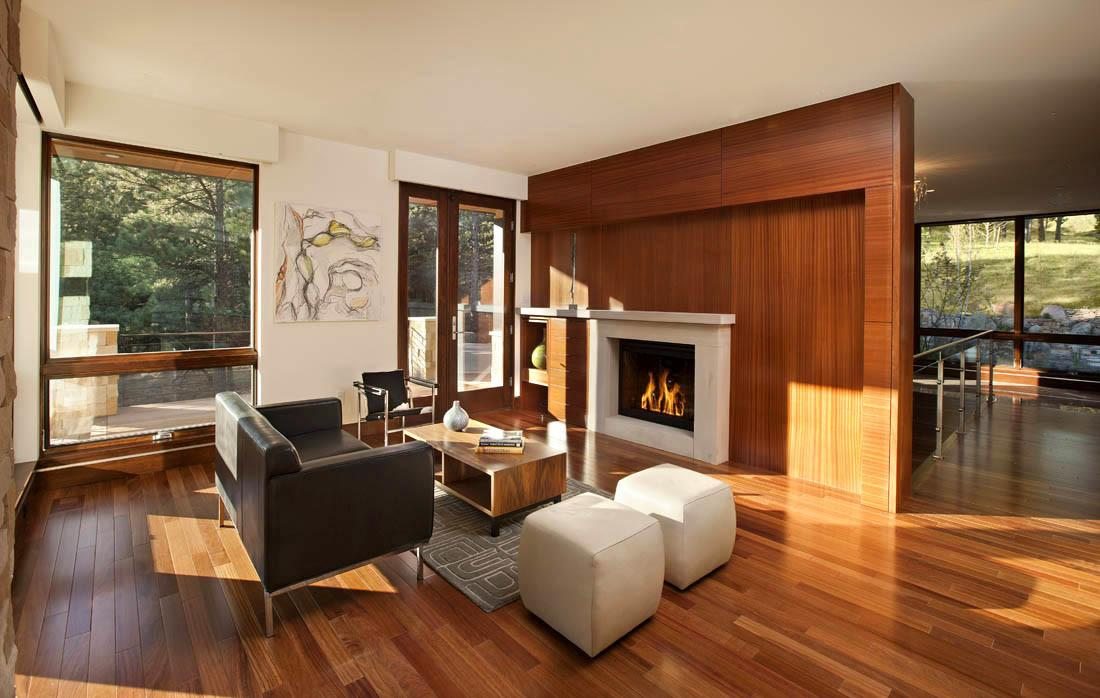 Warm Living Room Contemporary Homes Mosaic Architects