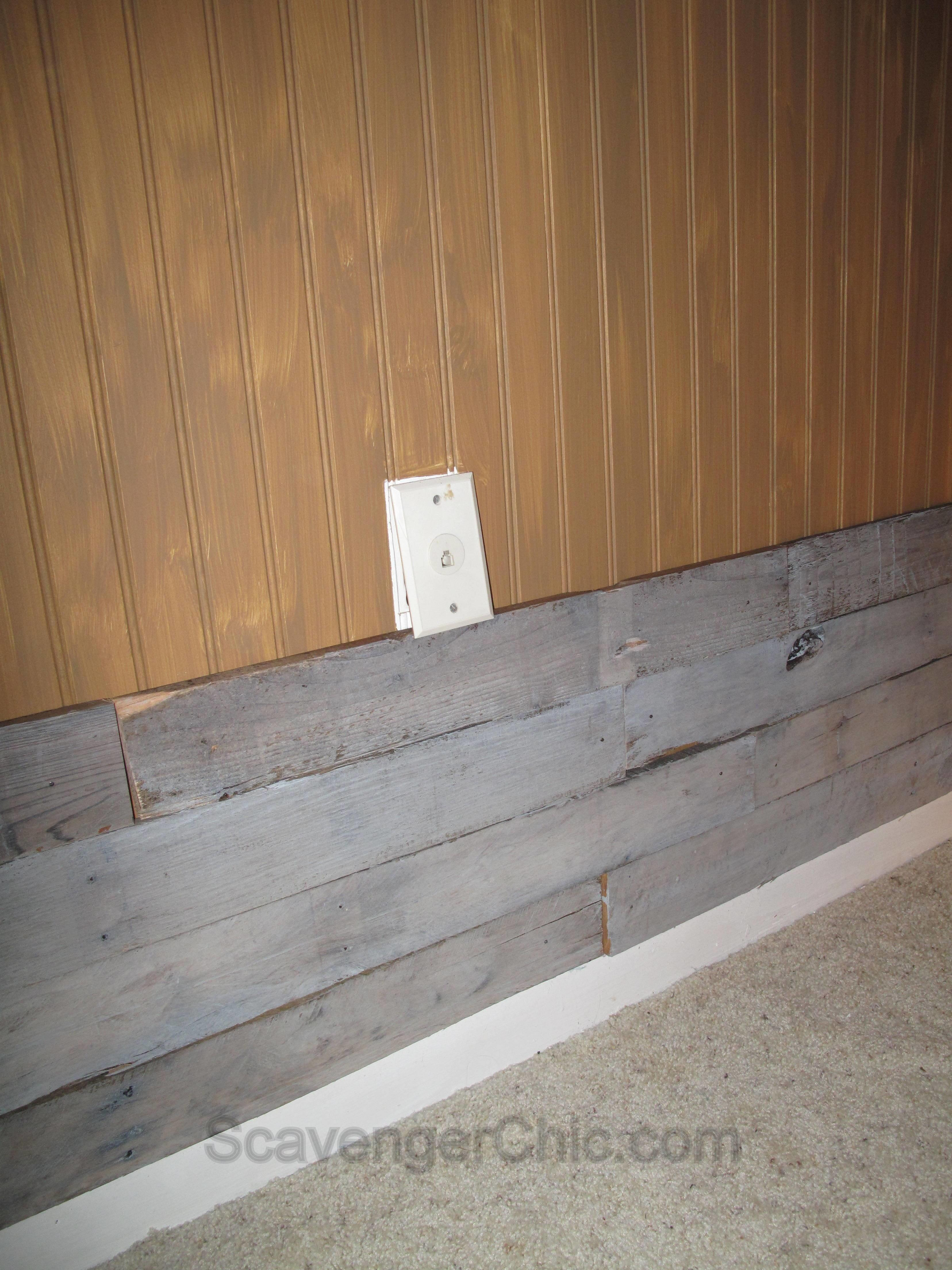 Warm Rustic Pallet Wood Wall Scavenger Chic