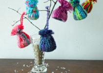 Warm Your Home Winter Decorations Knit Hat Ornaments
