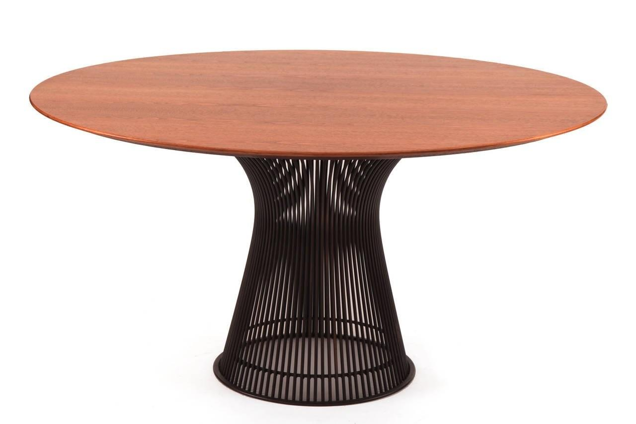 Warren Platner Knoll Bronze Dining Table Chairs 1stdibs