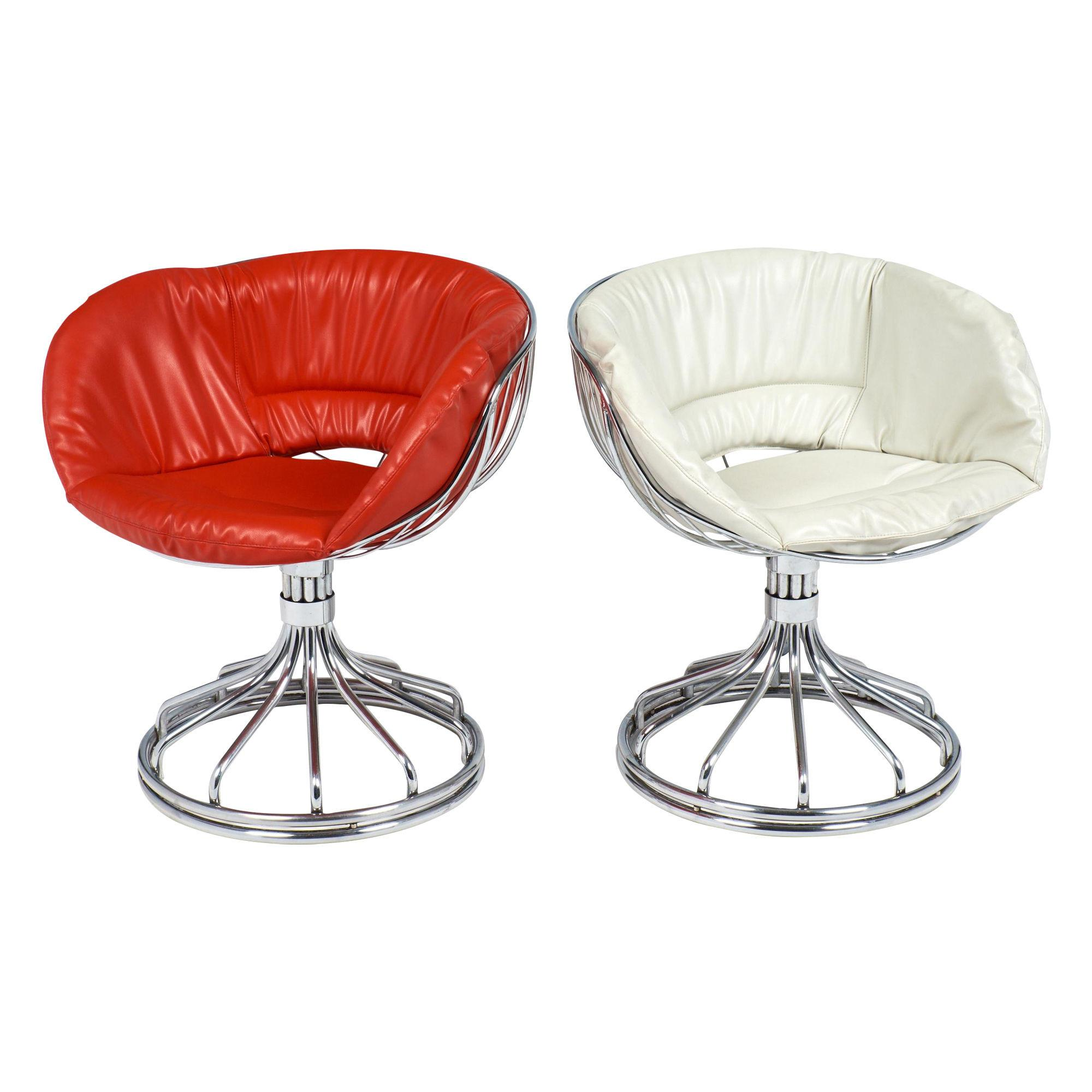 Warren Platner Style Chrome Chairs Jean Marc Fray