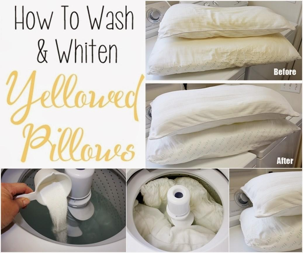 Wash Whiten Yellowed Pillows Diy Craft Projects