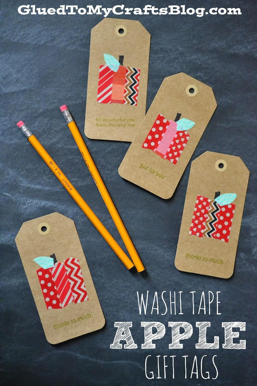 Washi Tape Apple Gift Crafts
