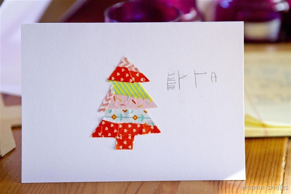 Washi Tape Christmas Cards Kids Can Make