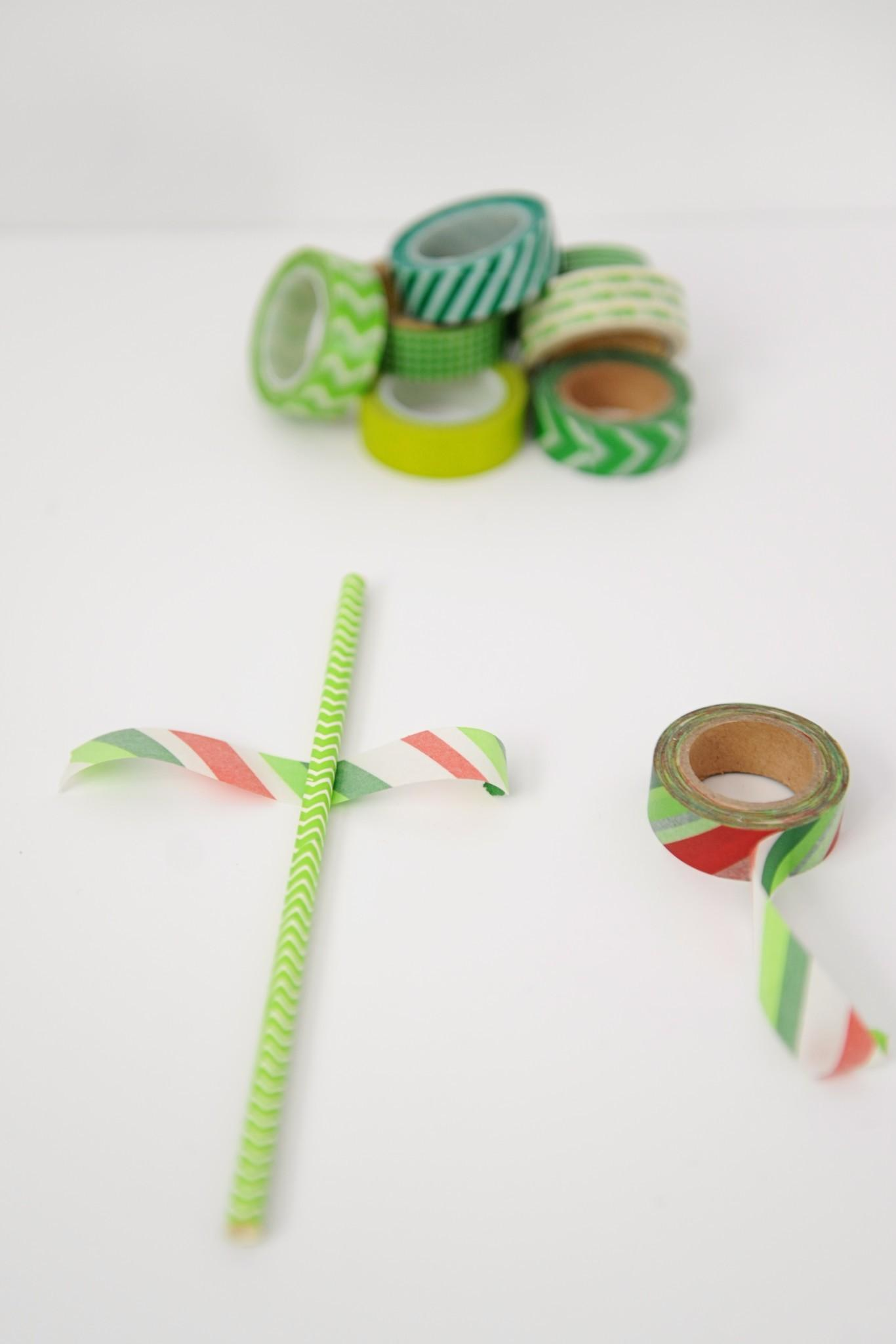 Washi Tape Christmas Tree Cute Diy Cake Topper Pink