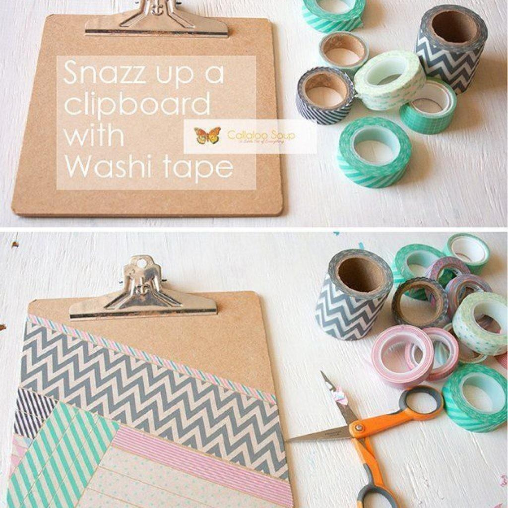 Washi Tape Crafts Diy Clipboard Wall Art