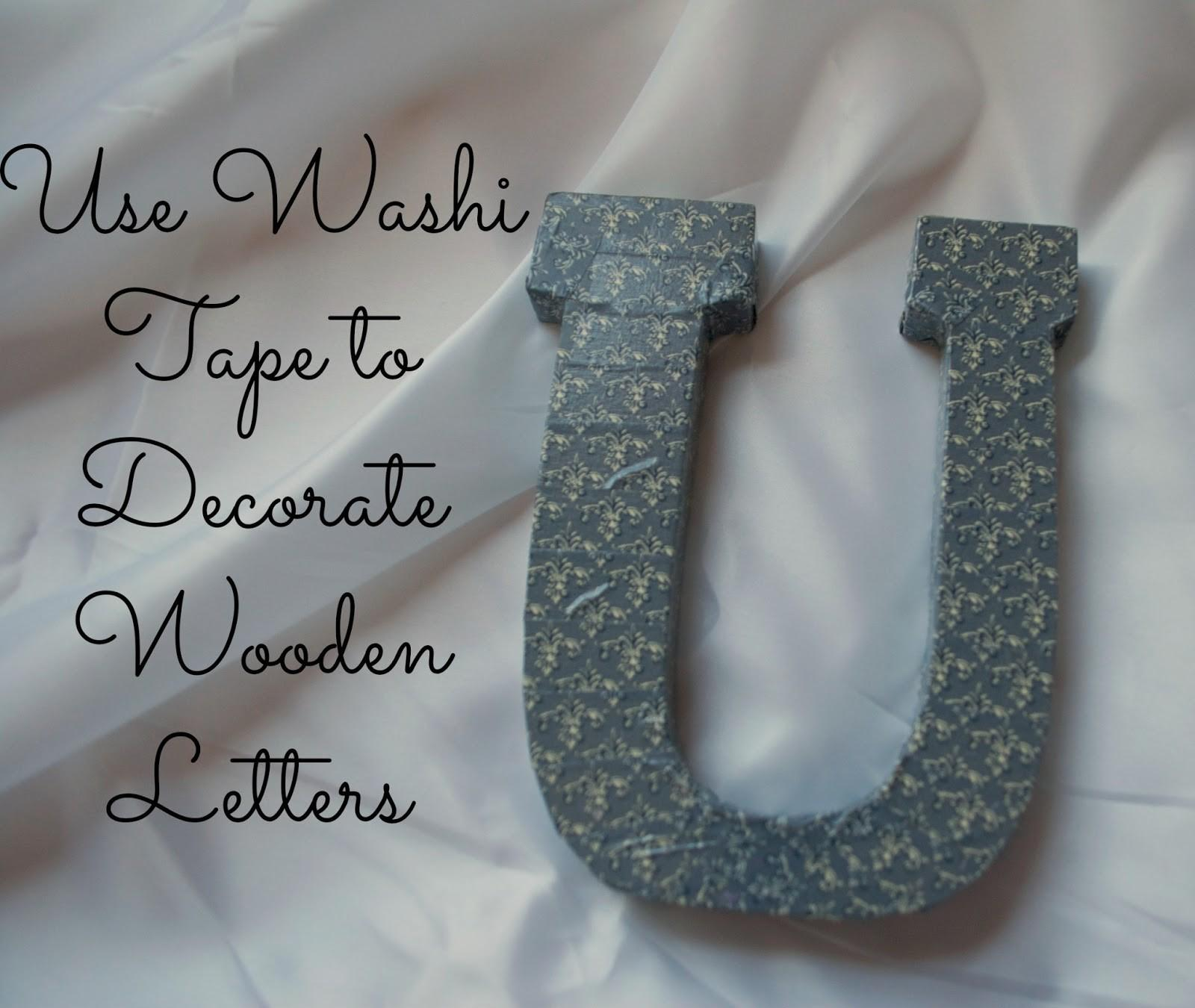 Washi Tape Decorate Wooden Letters Girlish Whims