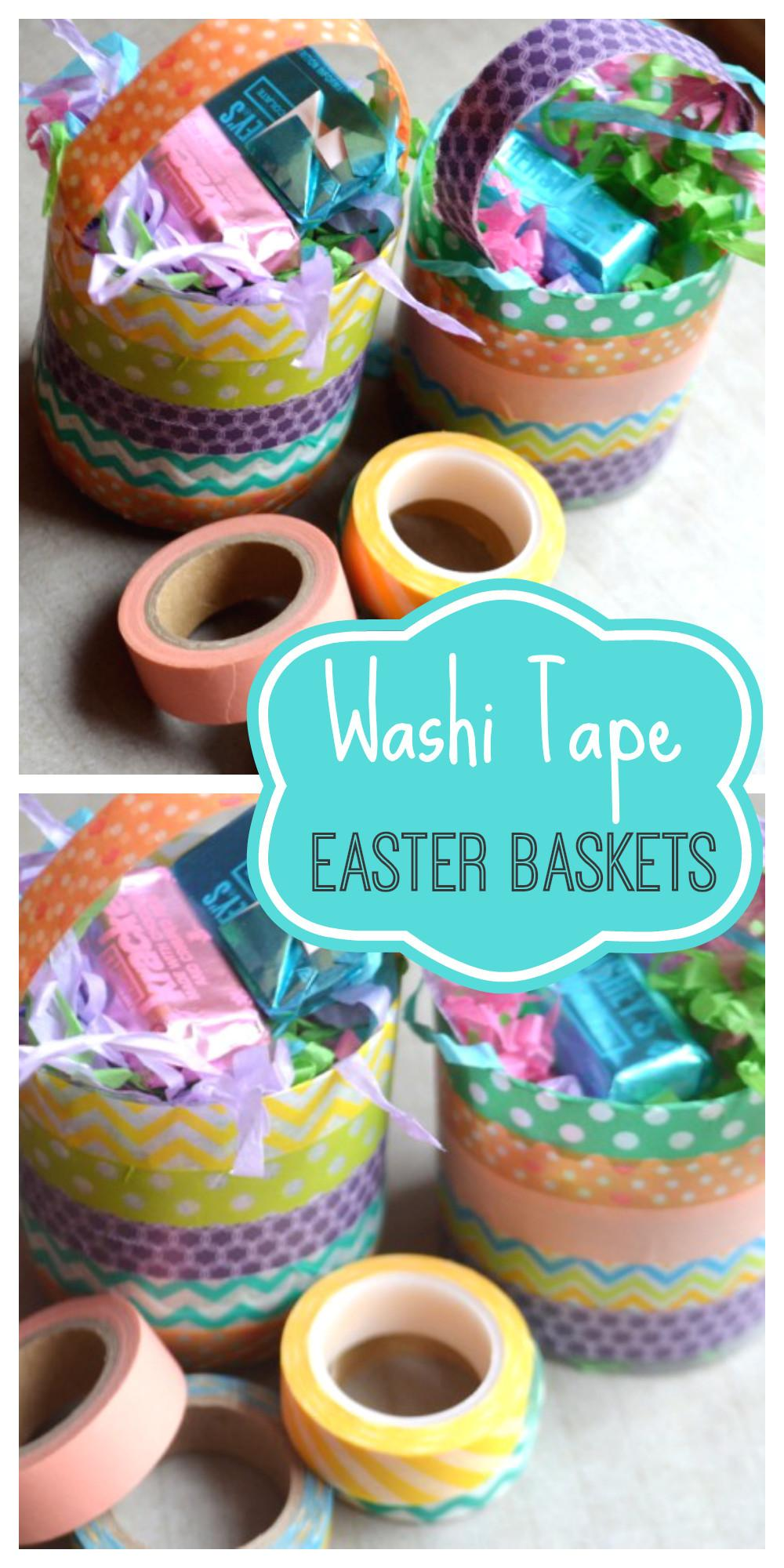 Washi Tape Easter Basket Diy Catch Party
