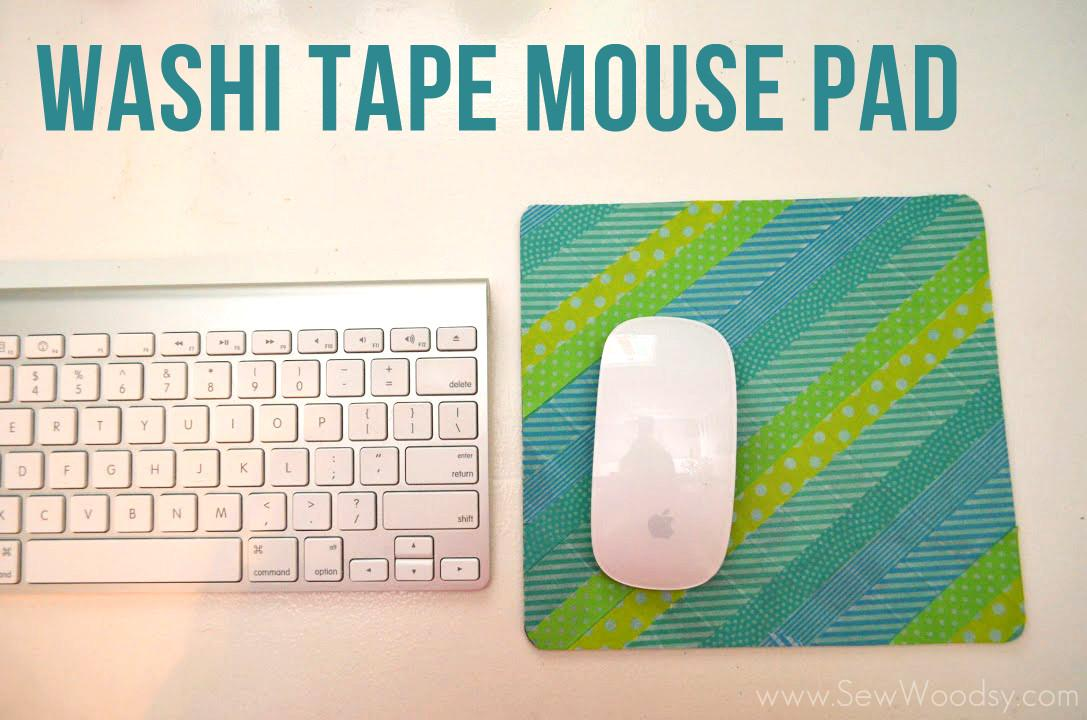 Washi Tape Mouse Pad Sew Woodsy