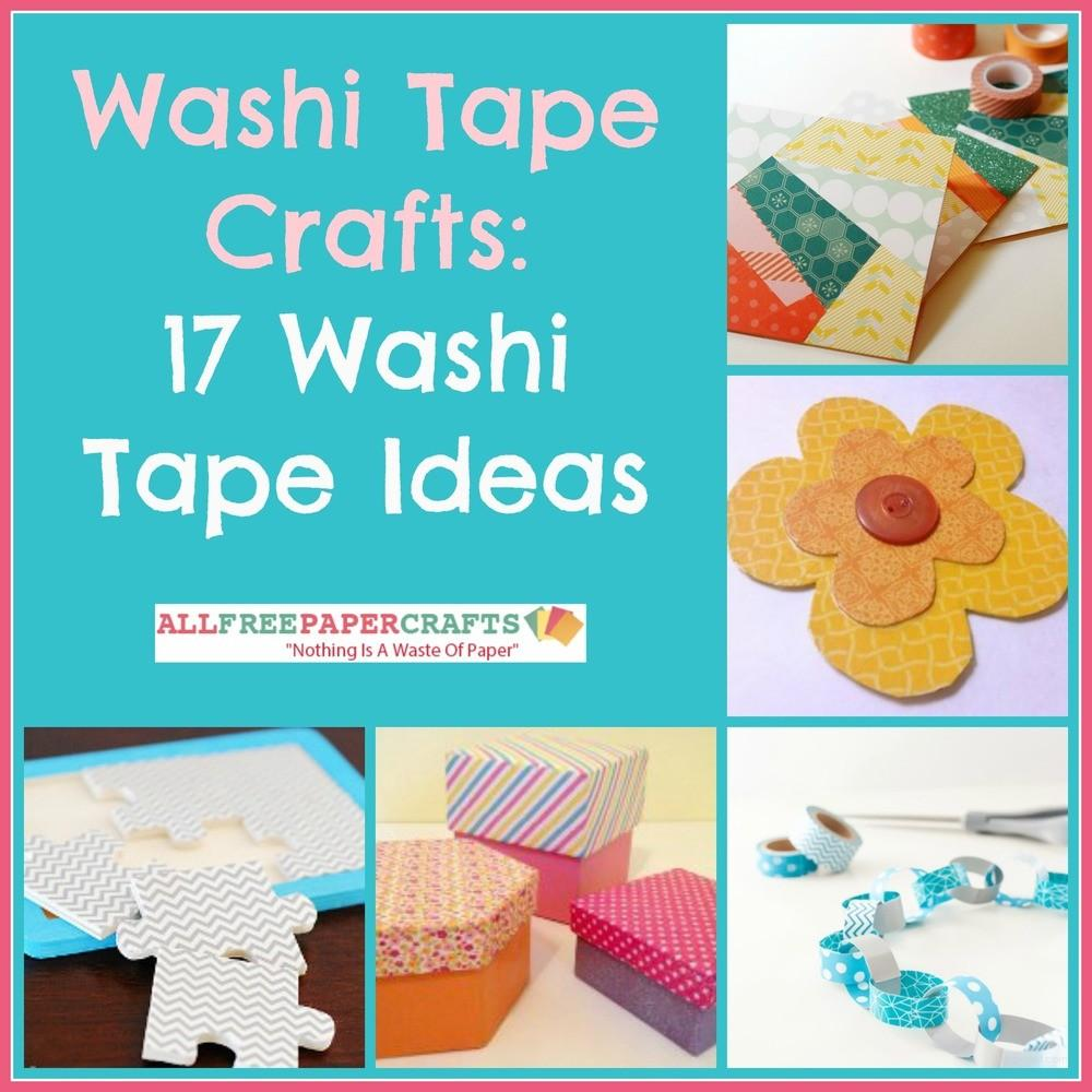 Washi Tape Paper Crafts Ideas