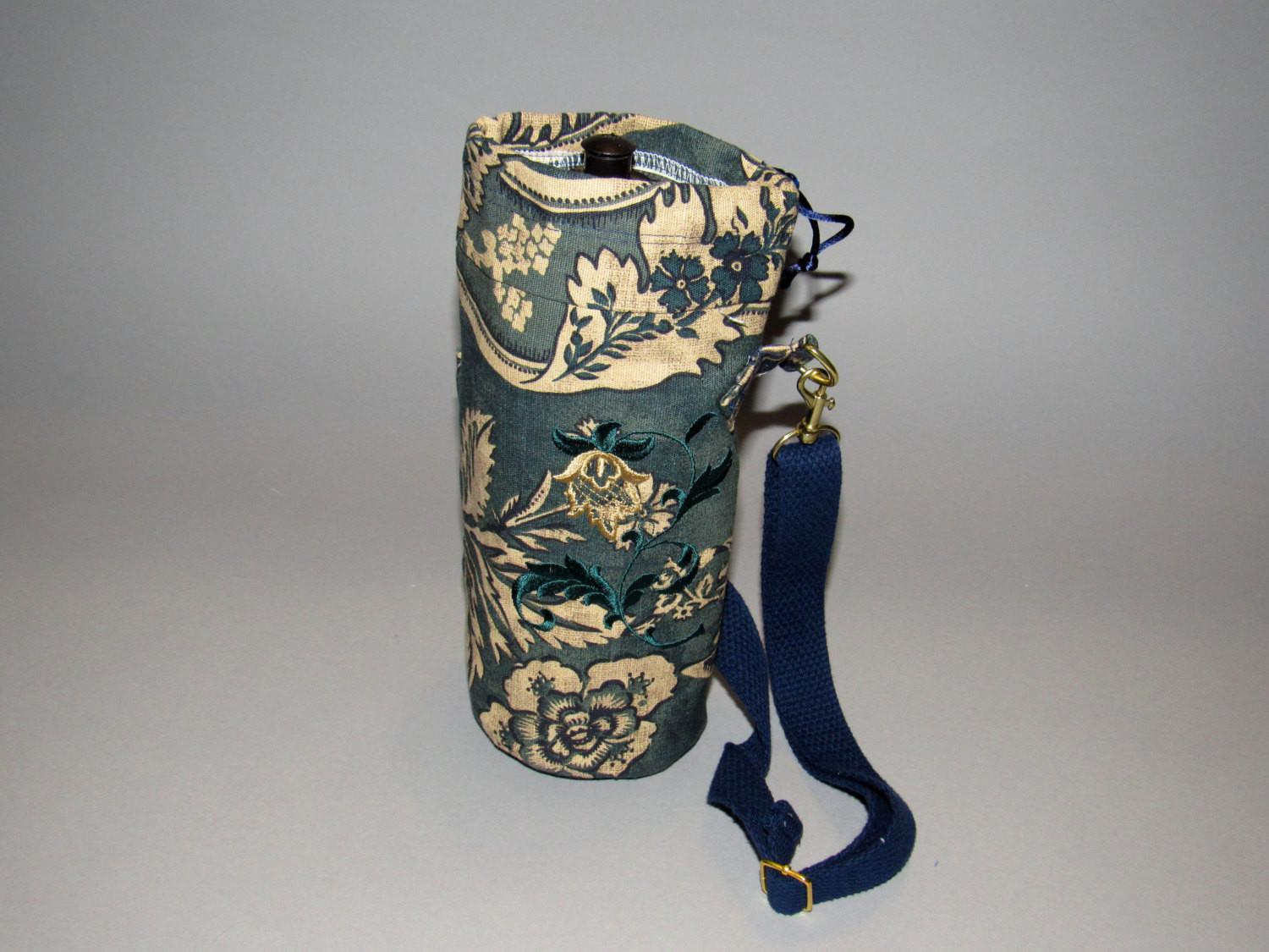 Water Bottle Holder Cloth Insulated Embroidered