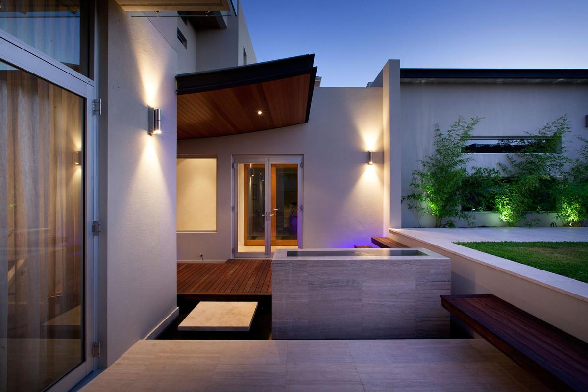 Water Feature Step Stunning Riverside Home Perth