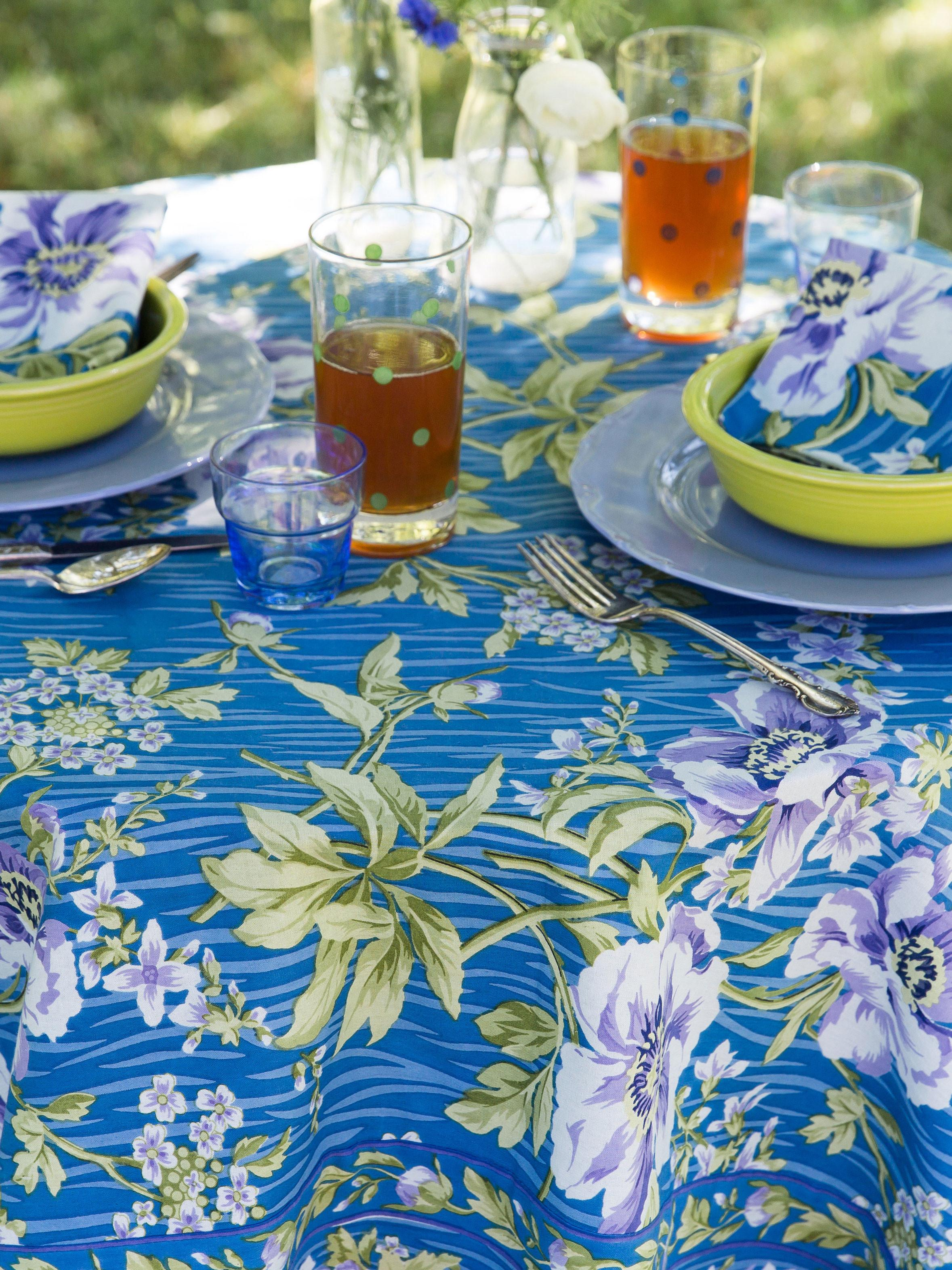 Water Lily Tablecloth Linens Kitchen Tablecloths