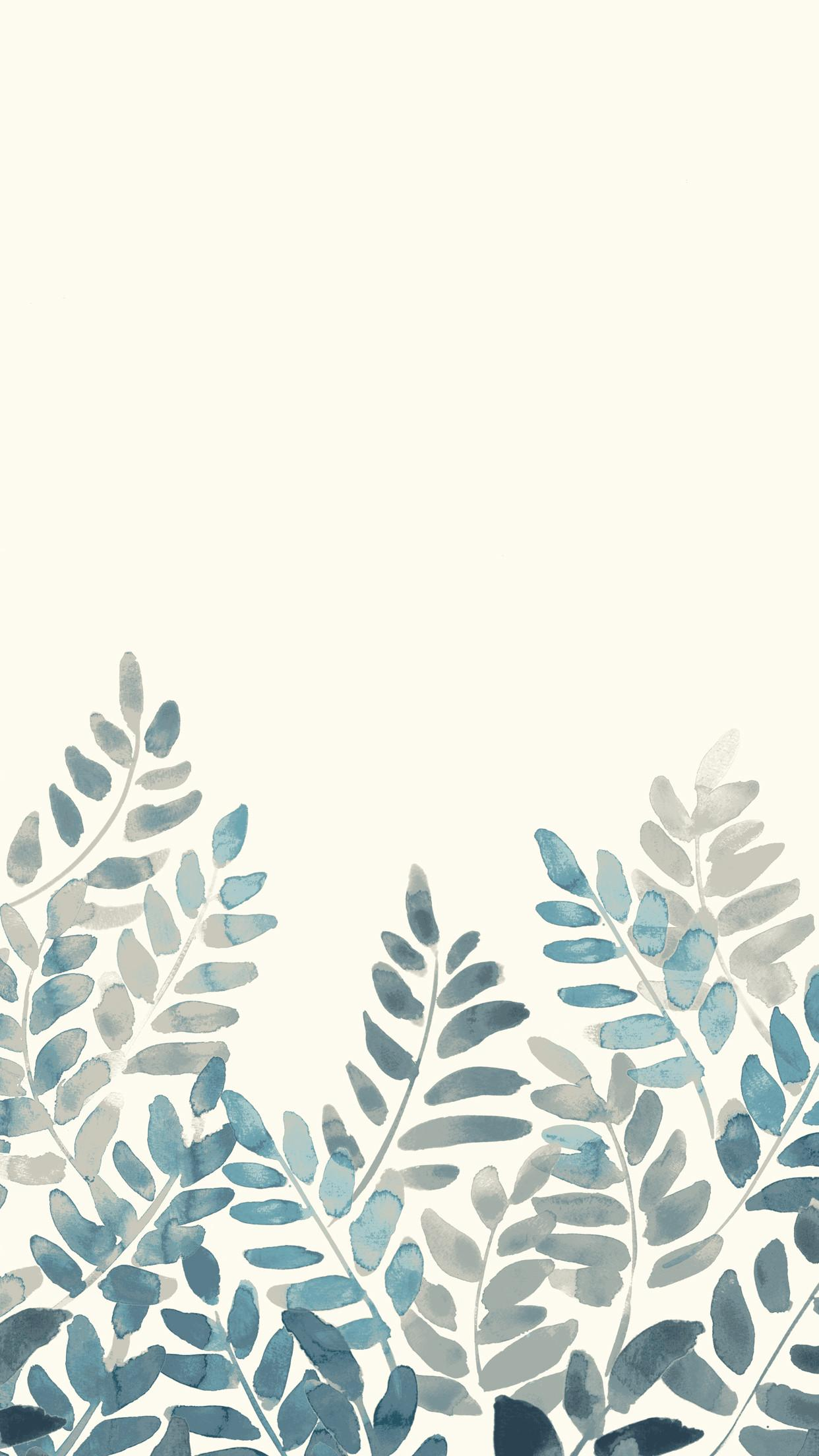 Watercolor Fern Mobile Front Main