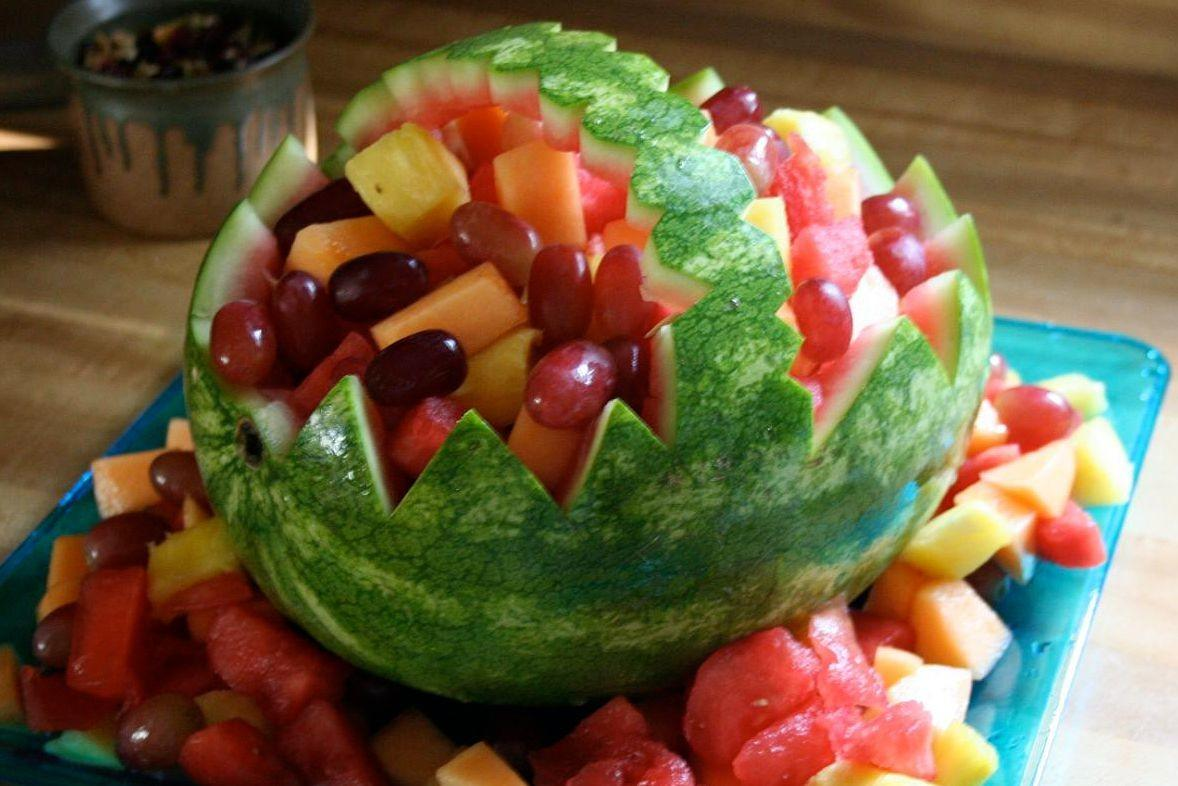Watermelon Basket Party Decoration Step