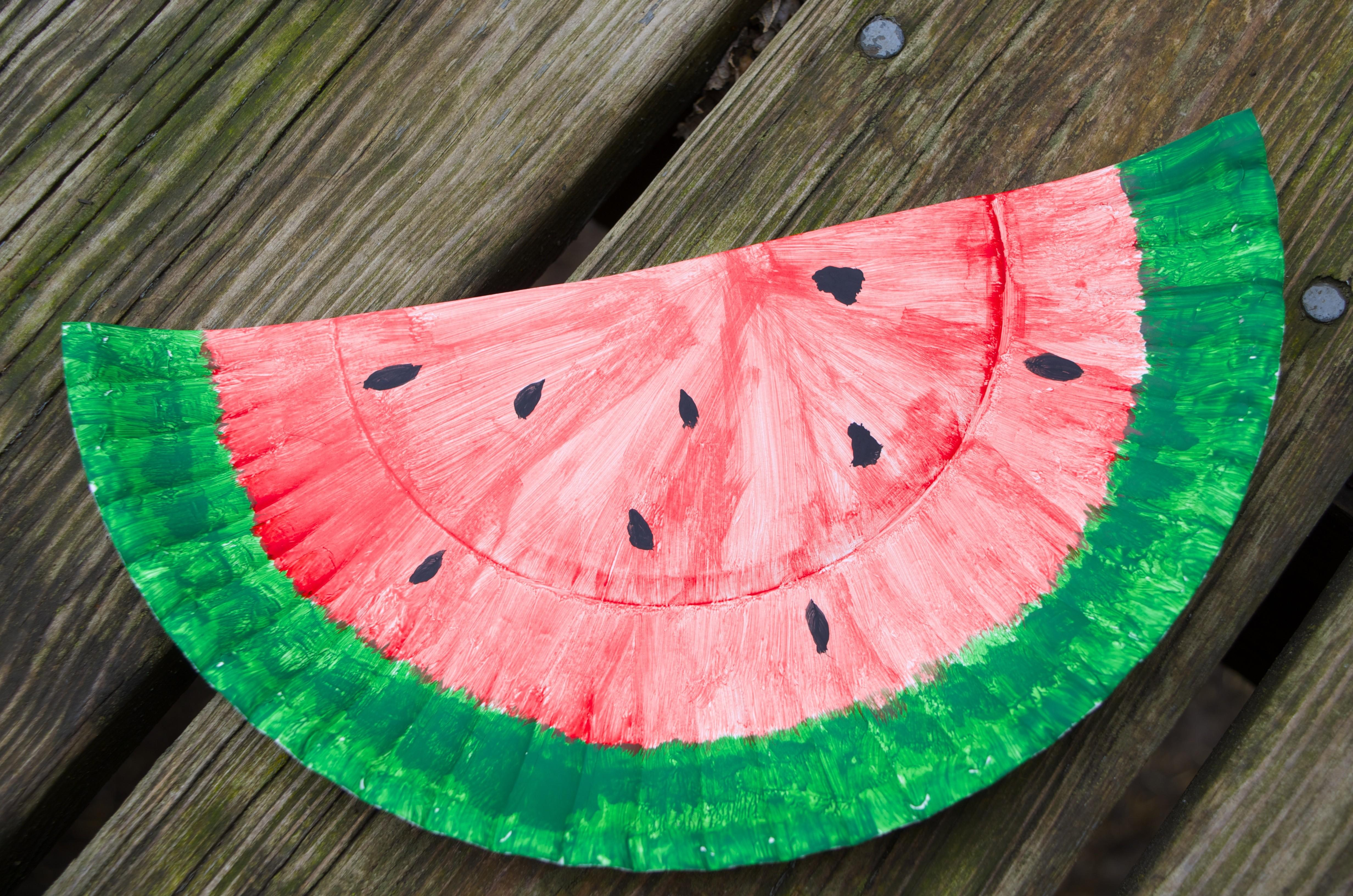 Watermelon Paper Plate Craft Recipes Diy Activities
