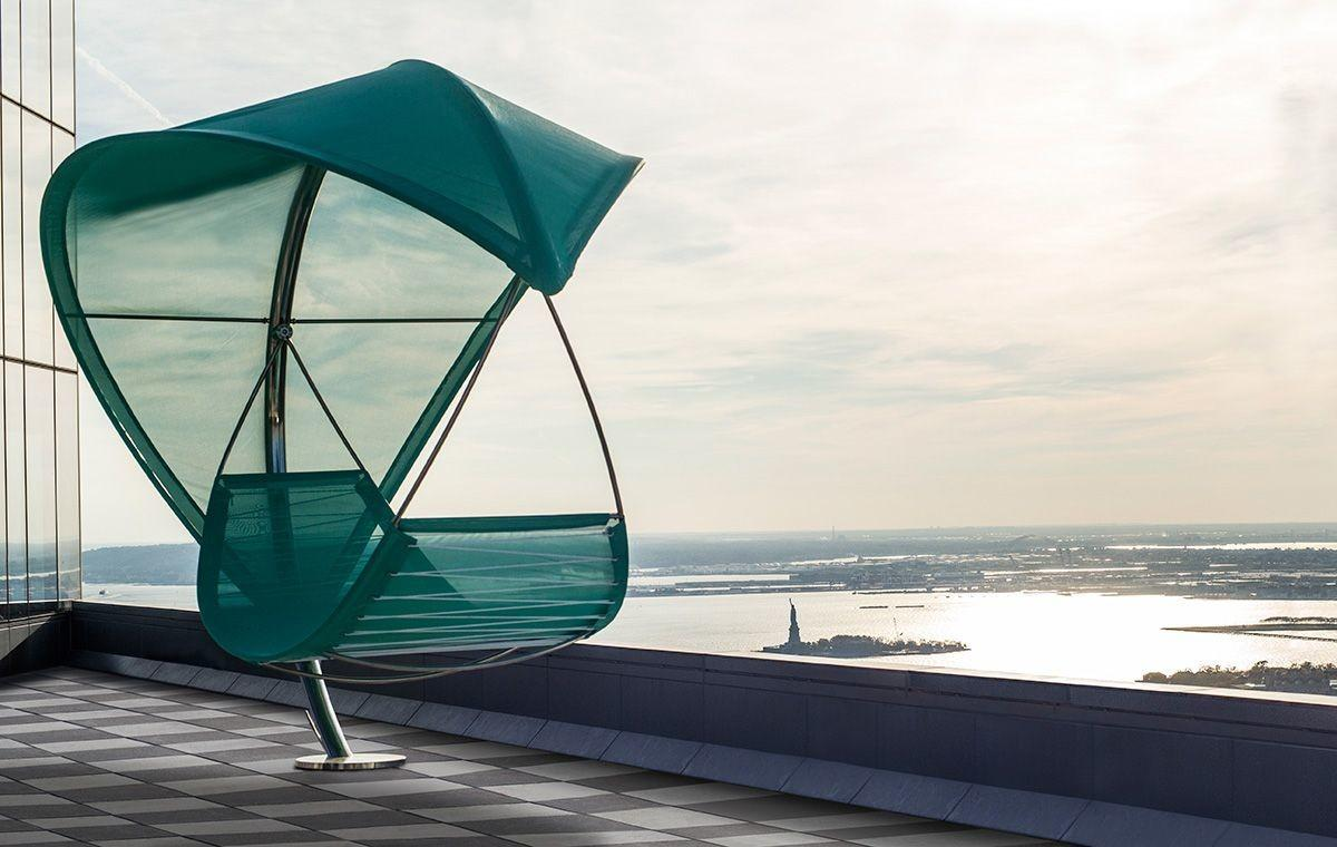 Wave Stunning Outdoor Hammock Brings Shaded Opulence