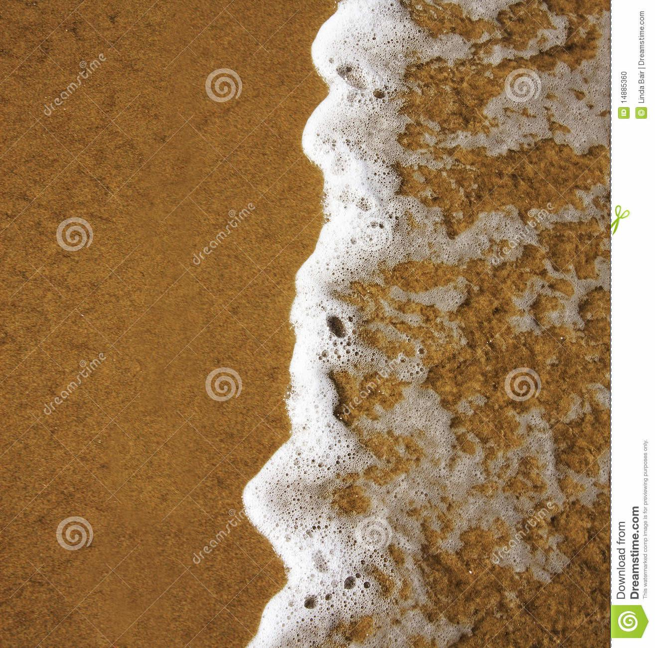 Waves Lapping Sandy Beach Stock Cartoondealer