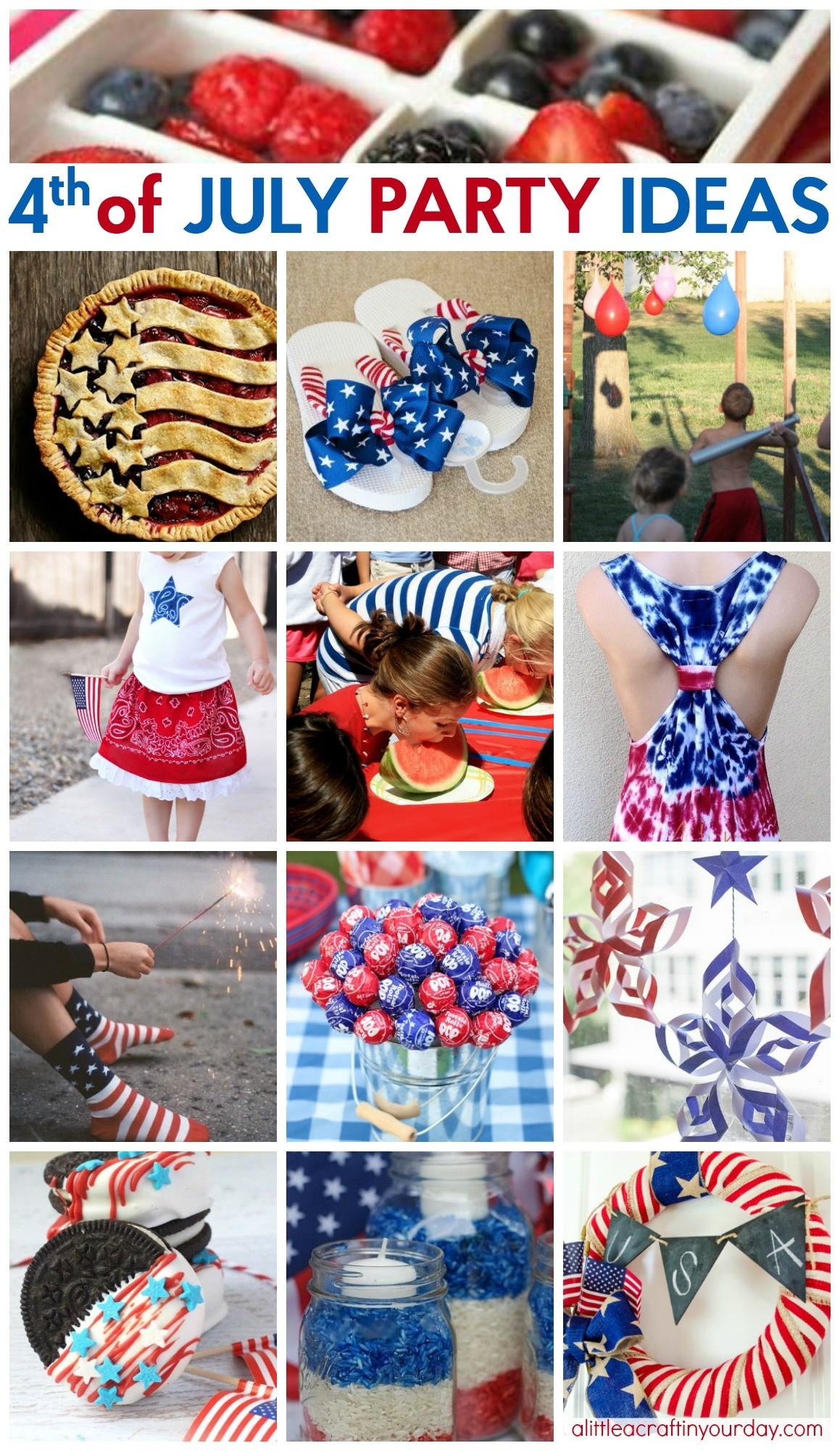 Way Cool Fourth July Party Ideas Little Craft