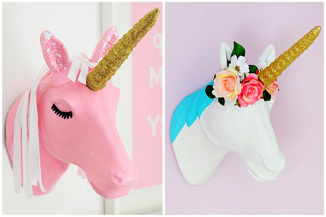Ways Decorate Mache Unicorn Head Hobbycraft Blog