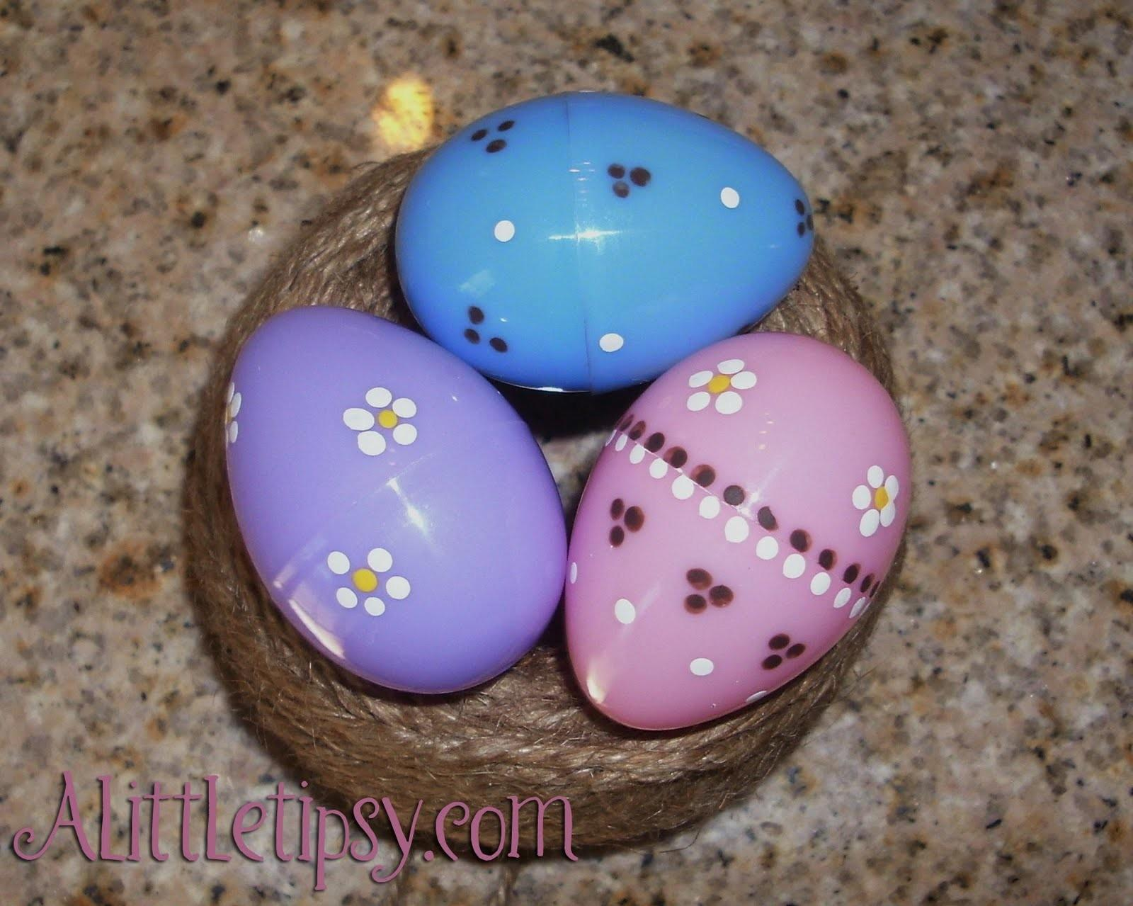 Ways Decorate Plastic Easter Eggs Little Tipsy