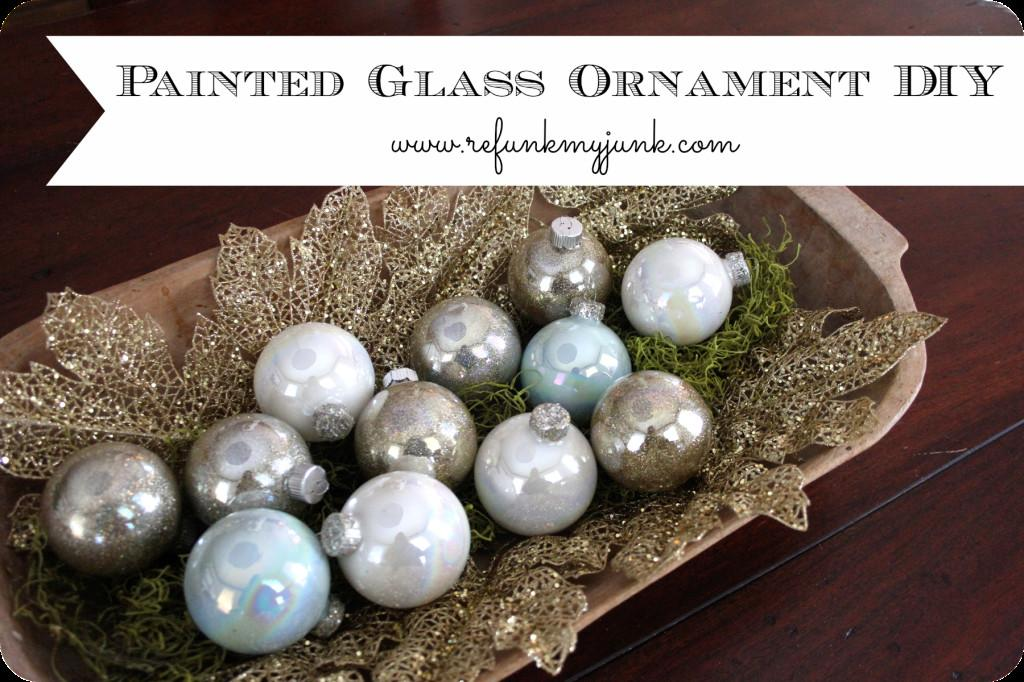 Ways Fill Clear Glass Ornaments Homemade Christmas
