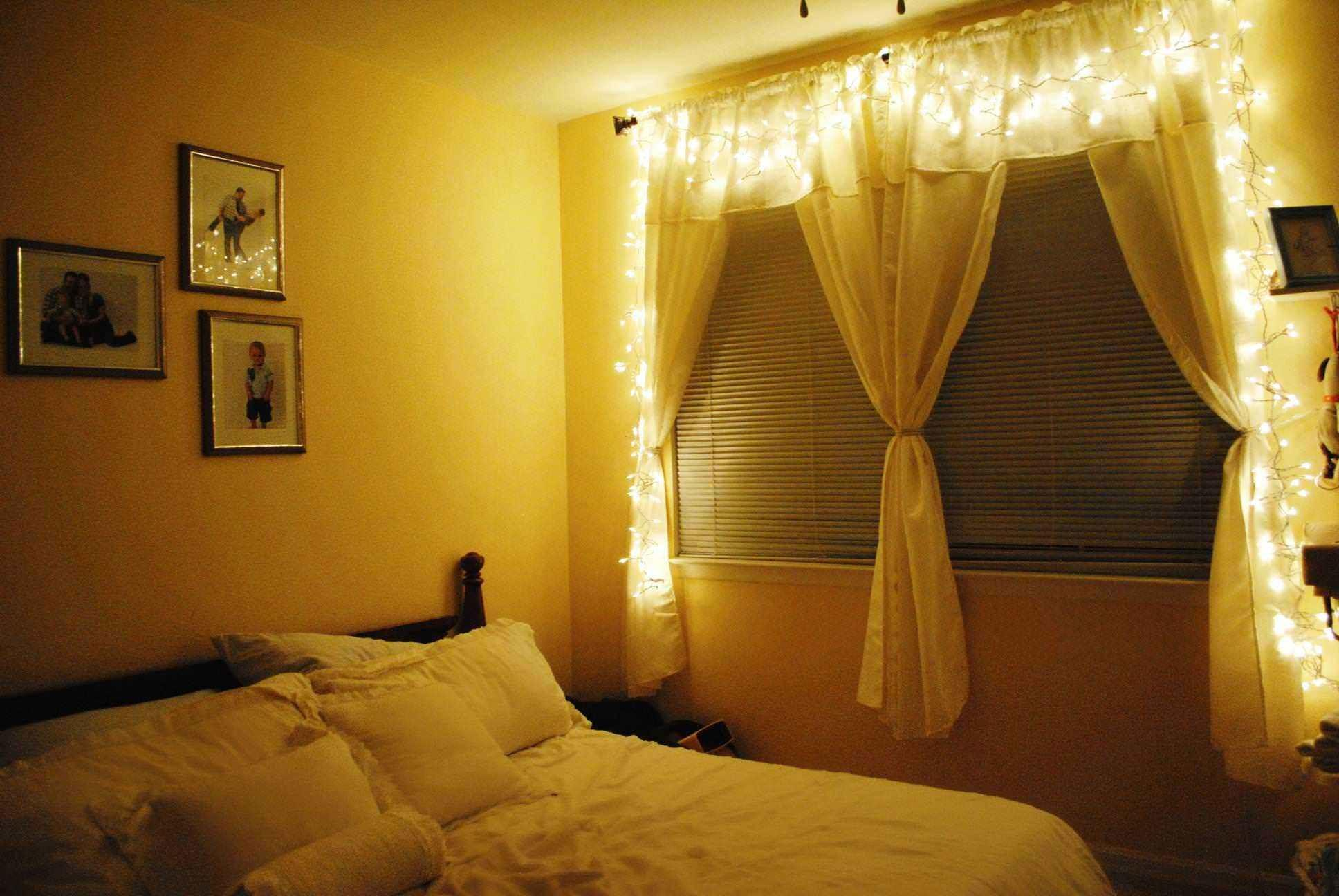 Ways Hang Christmas Lights Bedroom