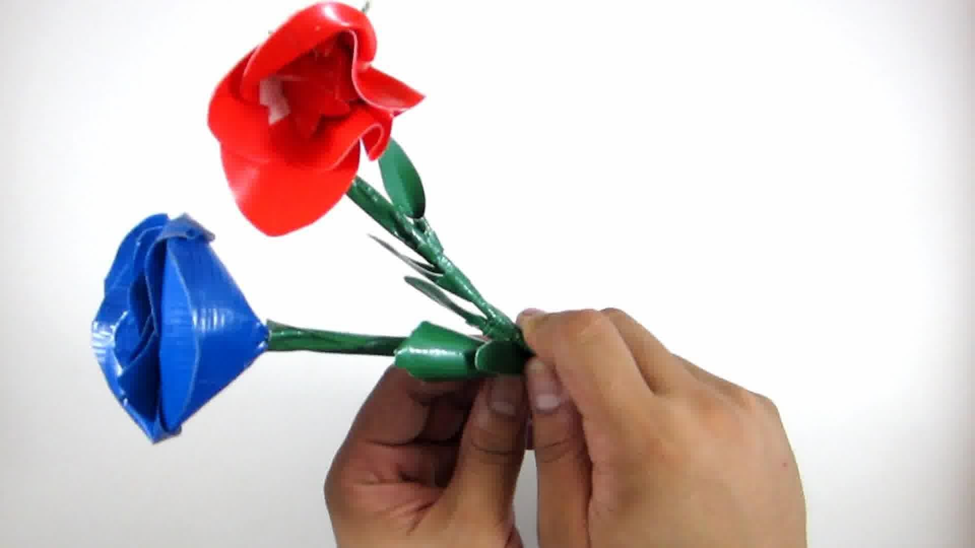 Ways Make Duct Tape Rose Wikihow