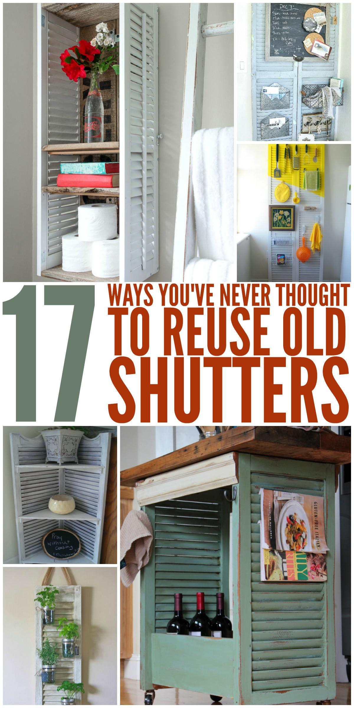 Ways Never Thought Reuse Old Shutters