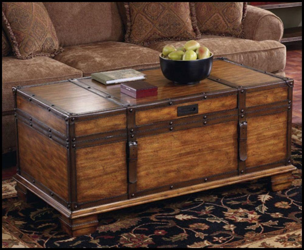 Ways Style Trunk Coffee Table Living Room
