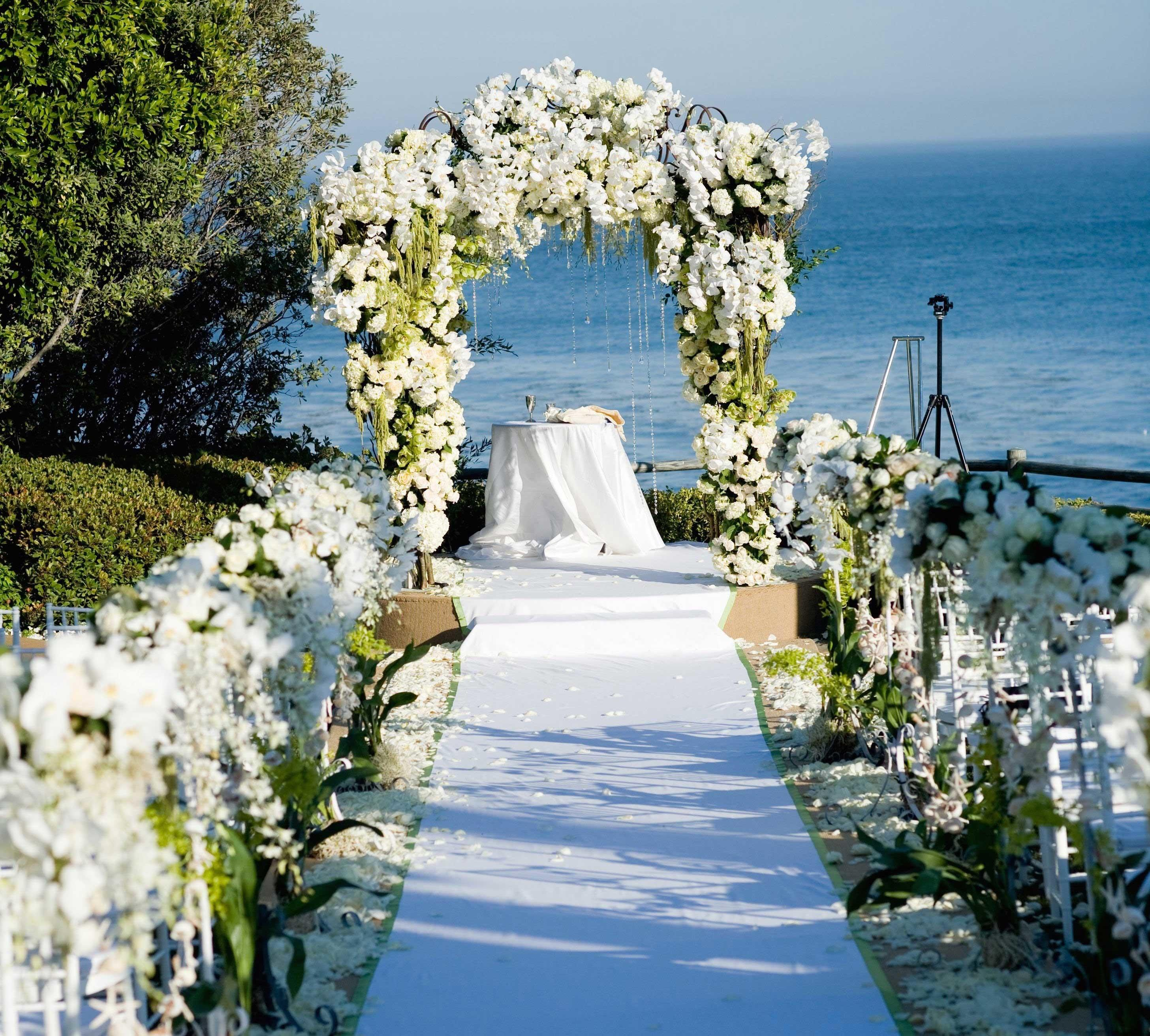 Wedding Ceremony Ideas Flower Covered Arch