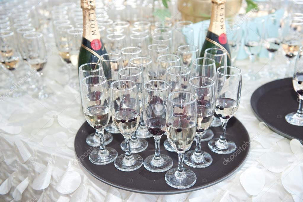 Wedding Decor Wine Glasses Champagne Flutes Table