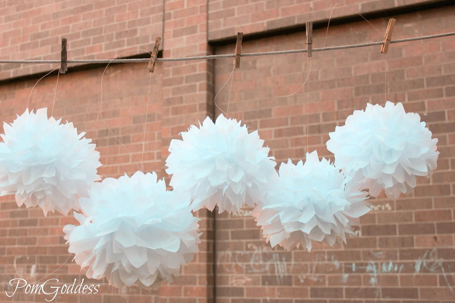 Wedding Decorations Tissue Pom Poms Pomgoddess Etsy