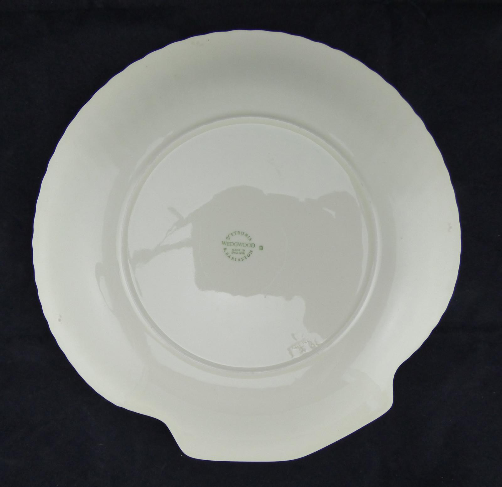 Wedgewood White Shell Shaped Plate Nautilus Collection