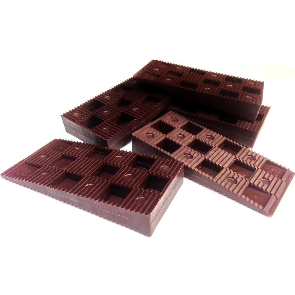 Wedgit Brown Plastic Level Frame Packers Interlocking