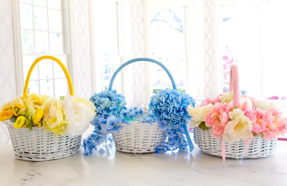 Weekend Diy Floral Easter Basket Lush List Dallas
