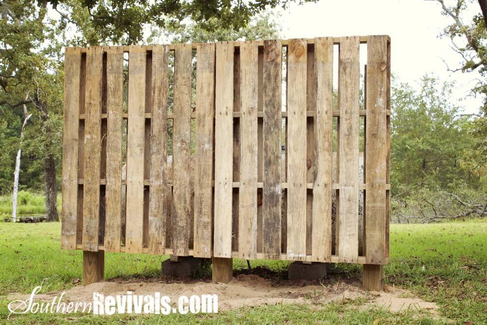 Weekend Project Pallet Garden Wall Phase