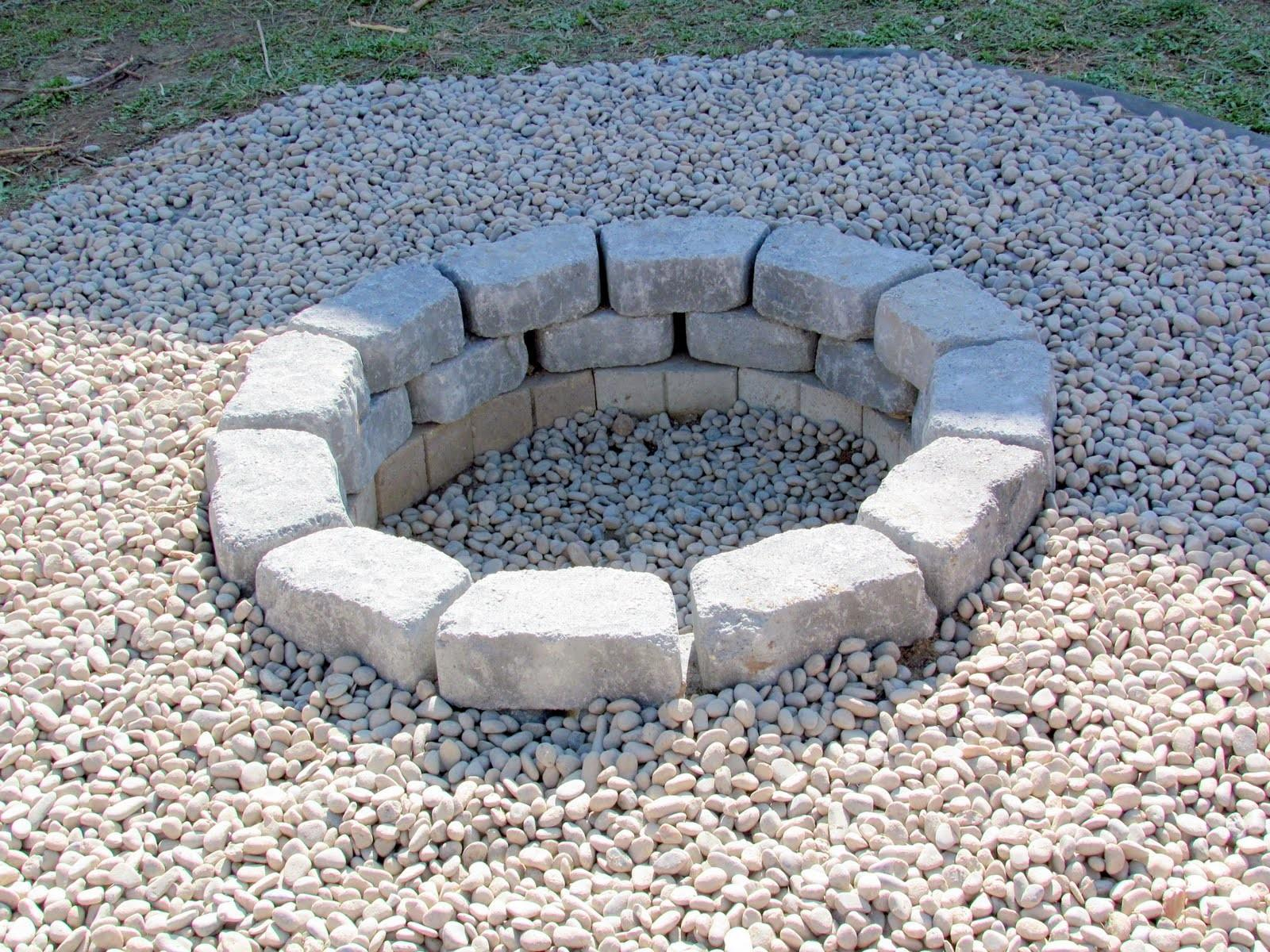 Weekend Project Stone Fire Pit Back Porch Gourmet
