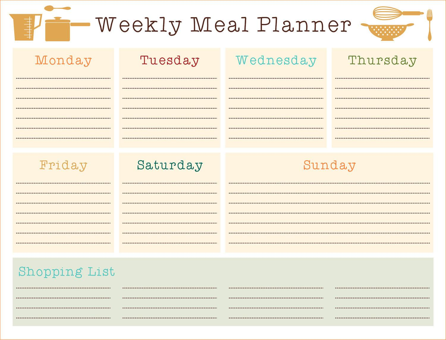 Weekly Meal Planner Recipes