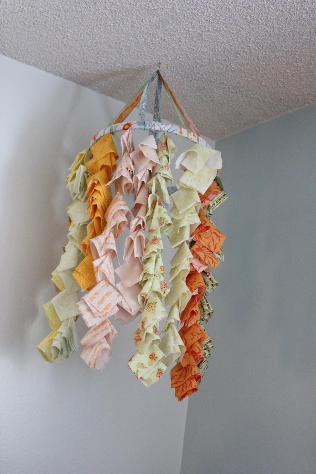 Welcome Apartment 205b Diy Fabric Chandelier