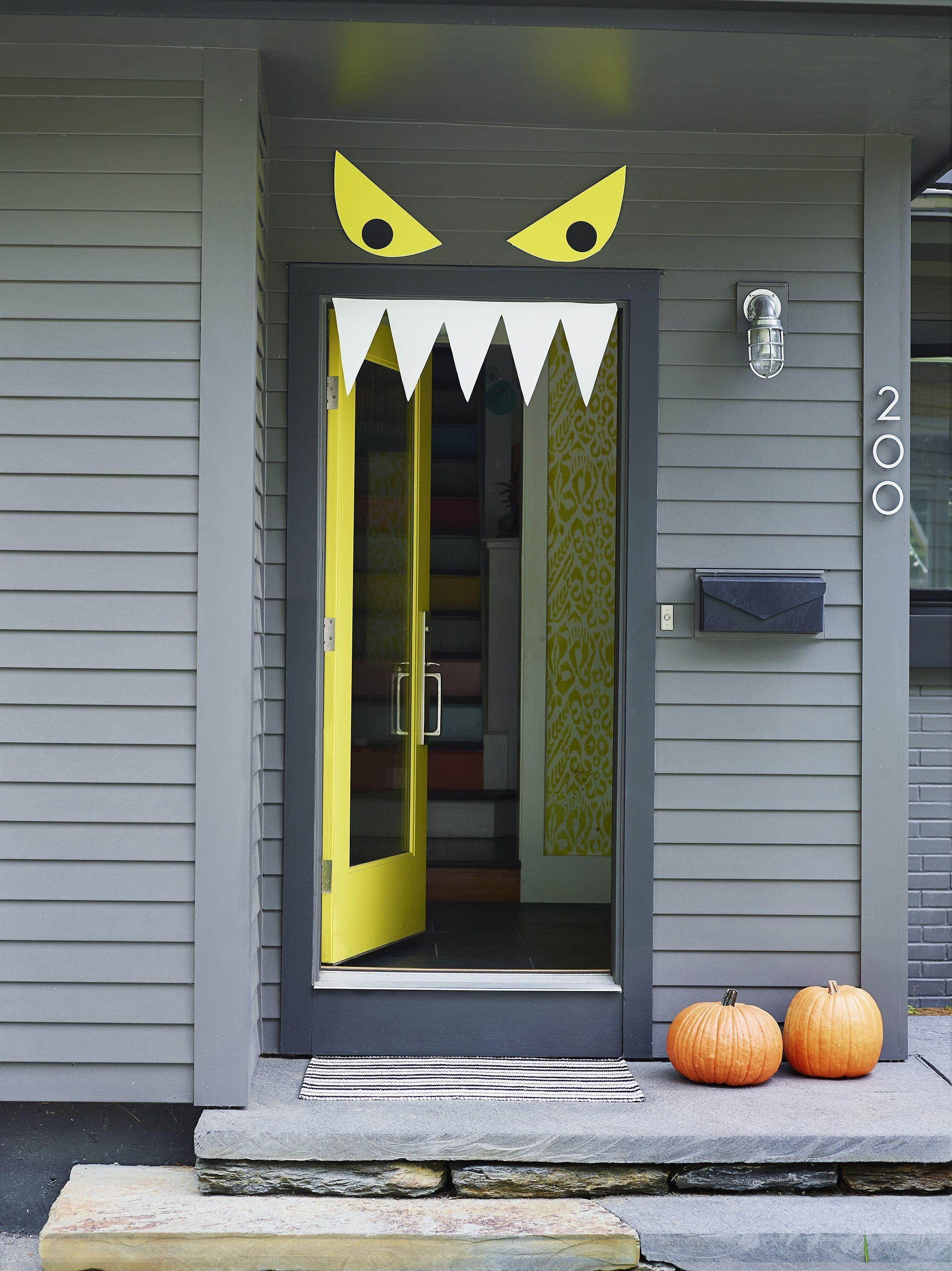 Welcome Halloween Fun Diy Front Door Decorations